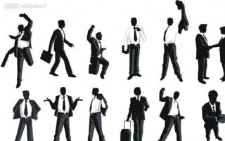 男性經理人矢量素材圖片
